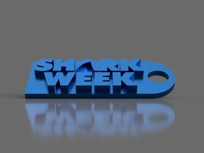 Shark Week Keychain