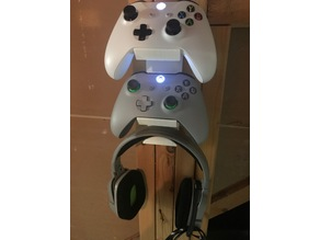 XBOX one remote and headset wall  mount