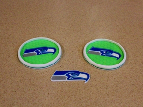 Slightly modified Seahawks Coaster and Logo - Go Hawks!