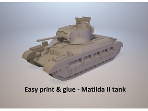 Easy print & glue - Matilda II tank