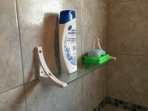 Glass shelf for bathroom