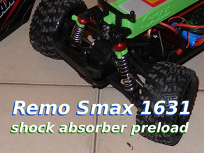 RC car 1/16 shock absorber preload
