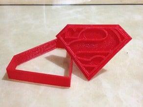 Superman logo cookie cutter v2