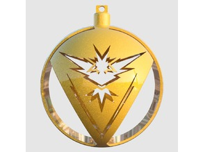 Pokemon Go Team Instinct Tree Ornament