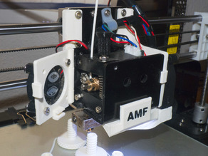 Anet A8 Extruder + Hotend free access MOD +LED Holder+ right hand fan holder