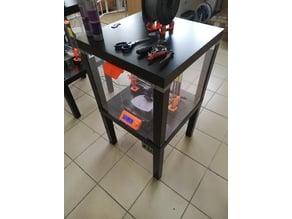 IKEA LACK table enclosure PRUSA MK3 modification