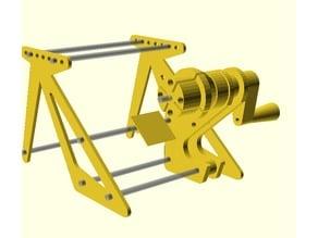 Magnet wire coil winder