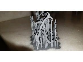 Skeleton God_ remix Cutted for easier SLA/DLP printing