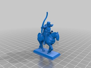 Knight archer on horseback