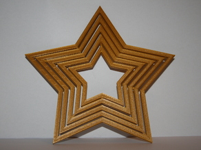 Gyroscopic star ornament