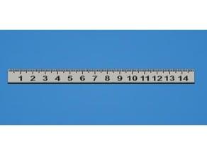Dual Colour 150mm Ruler