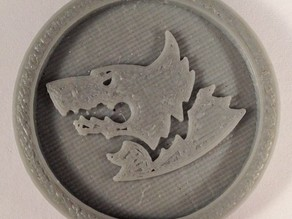 40mm X 4mm Token - Marker of Space Wolves 40K Bits