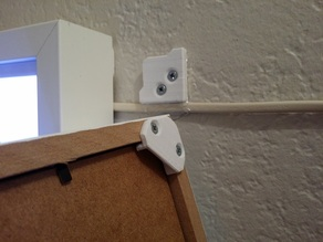 Ikea Ribba removable and invisible frame mounting