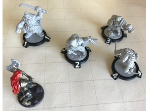 28mm D&D Tabletop Numbered Enemy Bases