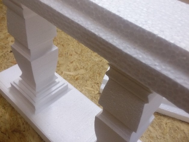 Baluster In Foam And Mold For Concrete Or Plaster By Fl013