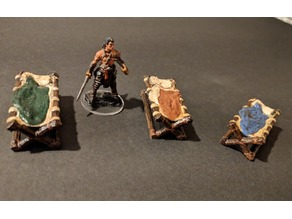 Adventurer's Camp - Log Cot - 28mm gaming