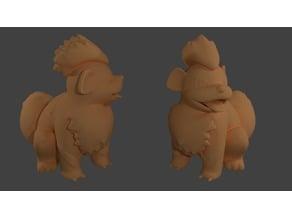 Grrowlithe Pokemon EDLI3D