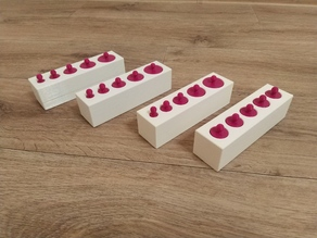 Montessori teaching aids blocks and barrels