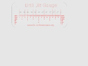 Drill Bit Sorting Gauge - Laser Cut