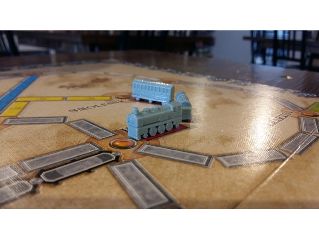 Ticket To Ride Custom Game Pieces By Jfehr11 Thingiverse
