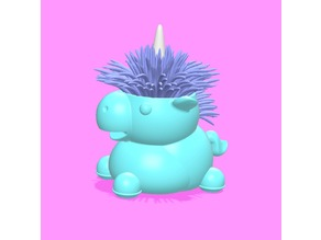 Unicorn type duster stand. Super cute!