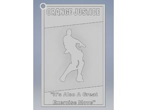 Orange Justice Keychain