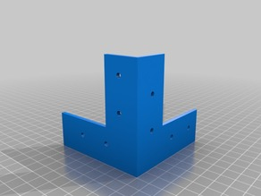 Various brackets for building a wooden box