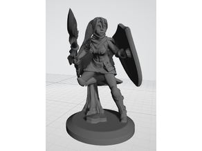 Warrior Elf Spearmaiden - 28mm