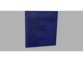 3D Printing Checklist