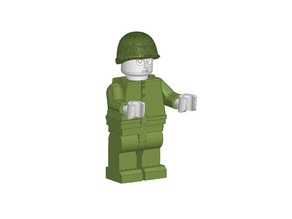 Lego Miniman russian soldier WWII