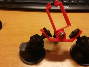 Double suction cup mount for action cam