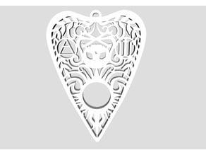 Gothic Skull Planchette Earrings
