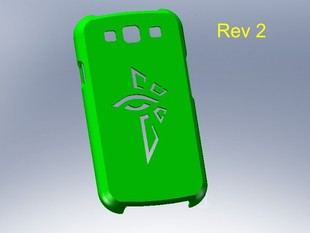 Galaxy s3 phone cover with Ingress Enlightened Logo