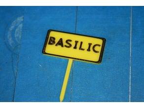 Panneau potager Basilic