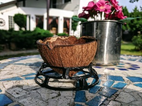 Coconut ashtray stand