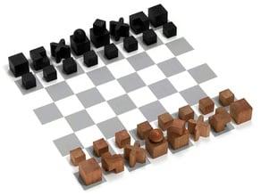 Pièces de jeu d'échecs du BAUHAUS (1923)