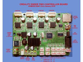 Creality Ender-2 Controller Board (Labeled)