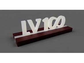 LV 100 (Latvija 100) illuminated letters