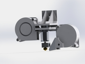 Blower Mount for Bowden Feed Hexagon Hotend V1.0