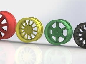 1/10th Scale R/C Wheels for 12mm hex, 4 different models