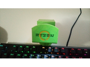 Ryzen Logo Headphone Holder | With HyperX Soundcard mount version