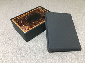 Yugioh deck box with snap fit lid