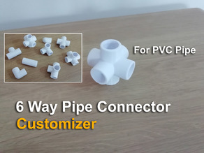 6 Way Pipe Connector - Customizer
