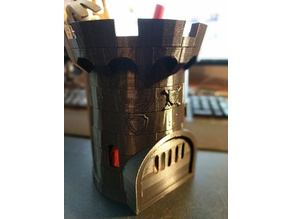 Castle Pencil Holder 5in