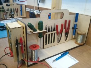 Electronics bench tool holders