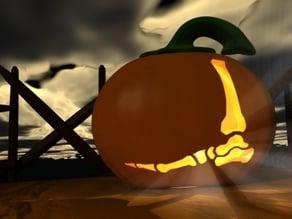 Throwie Pumpkin Jack O'lantern