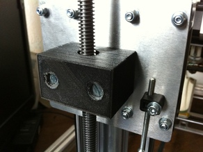 Hexagonal nut support for trapazoidal scew Z axis for K8200