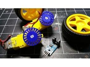 Encoder Wheel for Geared Motor (short hub)