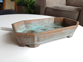 Octagonal Ornate Bonsai Pot - No Support Print, With Drainage Holes