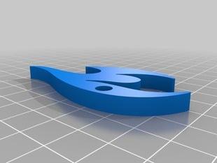 TuDelft 3D Logo (keychain+bottleopener)